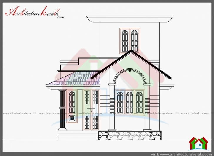 Outstanding 750 Sq Ft House Plan And Elevation - Architecture Kerala Kerala House Plan And Elevation Photo