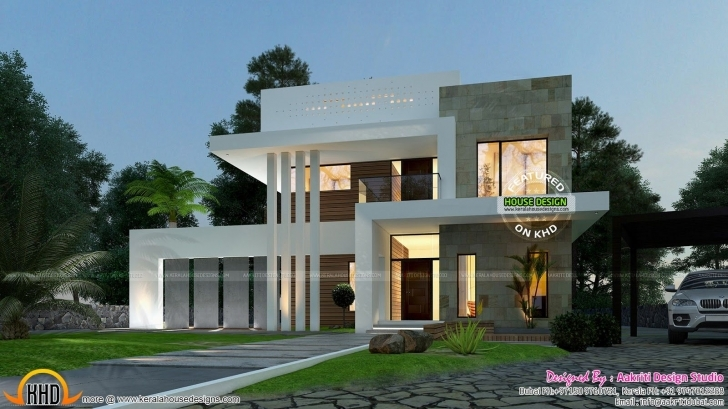 Outstanding Contemporary-Front-View (1600×899) | Elevation | Pinterest Beautiful House Design Front View Image