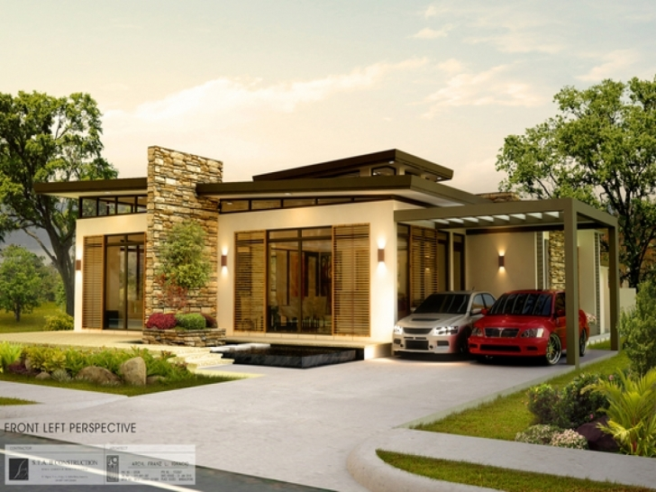 Outstanding Designs Modern Bungalow House Philippines New Design - Building Modern Bungalow House Pic