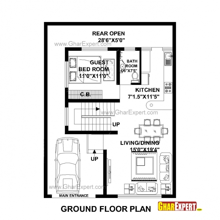 Outstanding House Plan For 30 Feet By 40 Feet Plot (Plot Size 133 Square Yards 1540 Plot Plan Photo