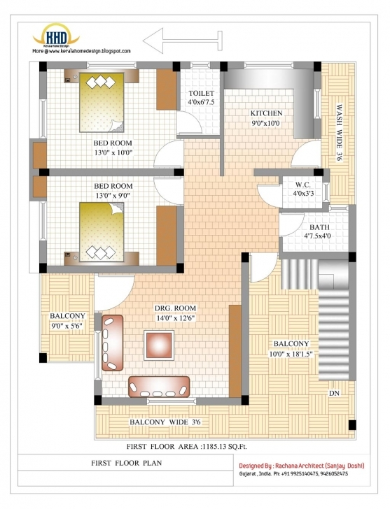 Outstanding House Plan Indian House Designs And Floor Plans Duplex Plan Sqft 1760 House Plan Image
