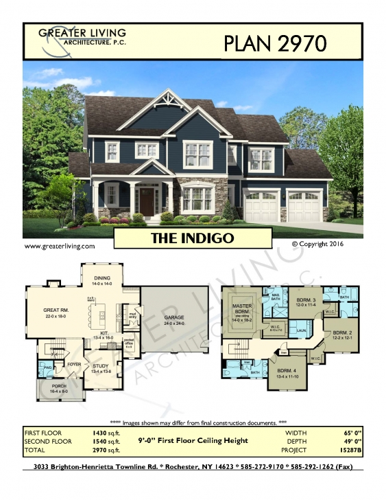 Outstanding Plan 2970: The - House Plans - 2 Story House Plan - Greater Living 1540 House Design Pic