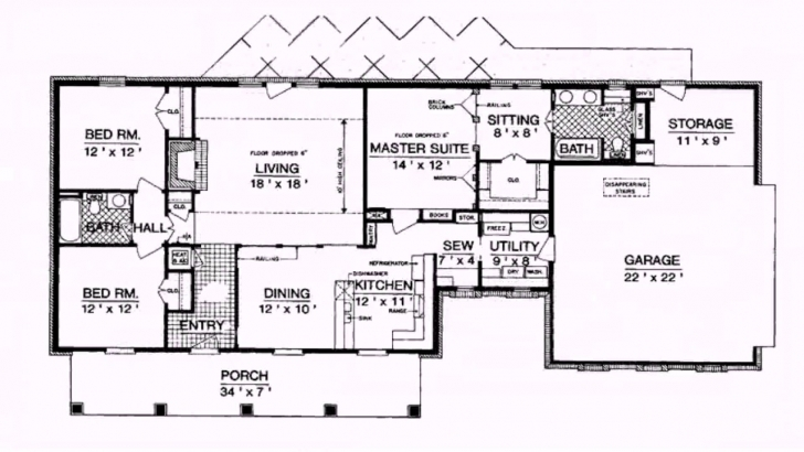 Outstanding Ranch Style House Plans 1800 Square Feet - Youtube Ranch Style House Plans Picture