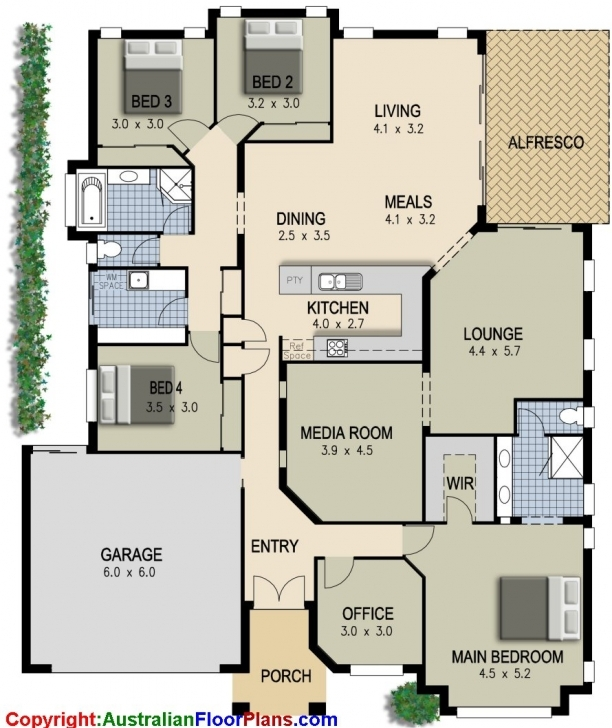 Outstanding Simple 4 Bedroom House Designs Ranch House Floor Plans 4 Alluring 4 Simple 4 Bedroom House Plans Image