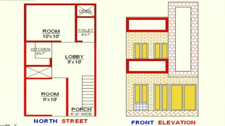 Outstanding Vastu 15X30 Plan+Elevation North Face - Youtube Homeplan For 15 Feet According Vastu Pic