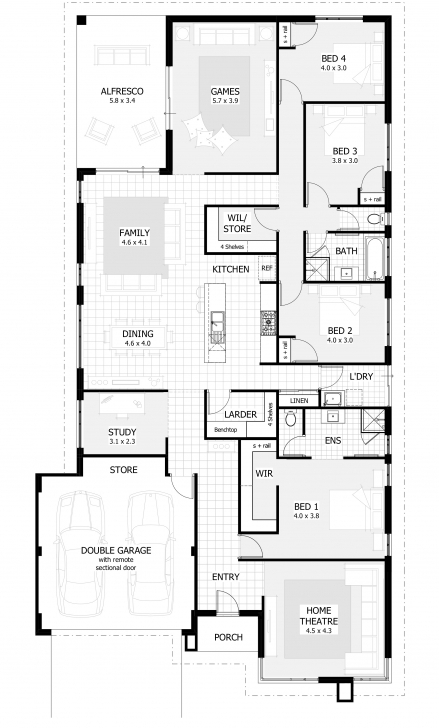 Picture of 15 Metre Wide Home Designs | Celebration Homes Half A Plot House Plan Photo