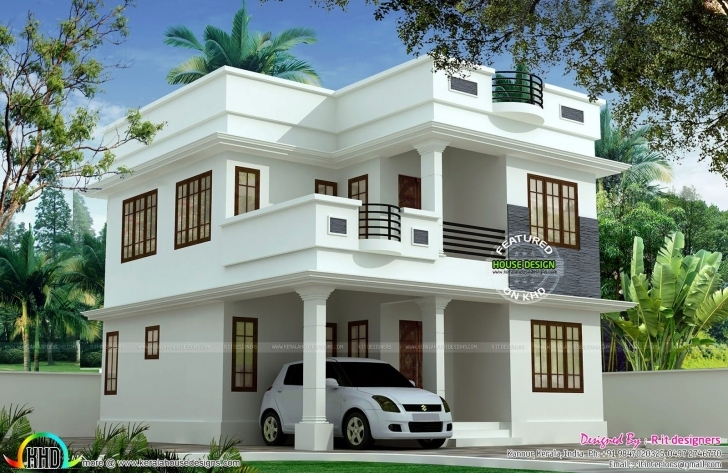 Picture of 1897 Sq-Ft Cute Double Storied House   Story House, House And 1000 Sq Ft Double Floor House Plans In Kerala Image