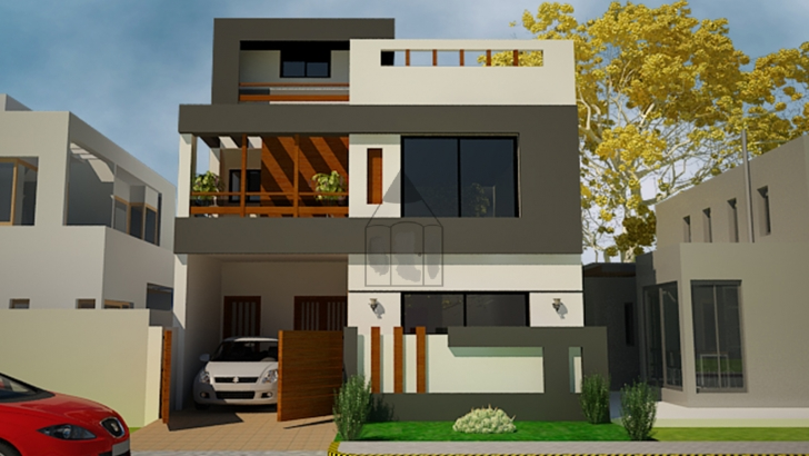 Picture of 5 Marla House Front Design | This Is A Standard 5 Marla House Front Double Story House Designs In Pakistan Photo