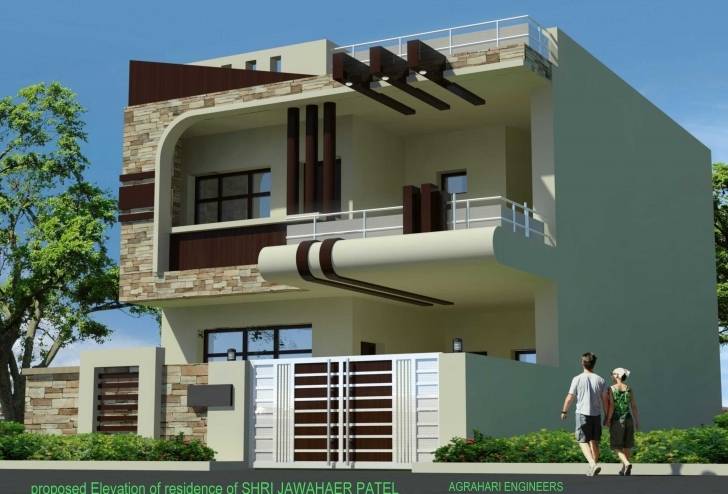 Picture of Awesome Duplex House Front Elevation Designs Including Of Yunus Single Floor House Front Elevation Designs Picture