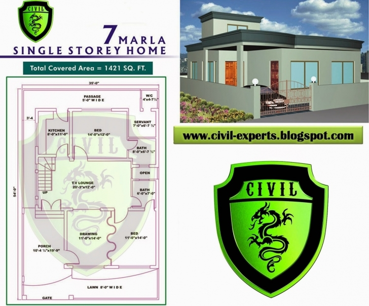 Picture of Civil Experts: 7 Marla House Plans 7 Marla House Map Design Pakistan Picture