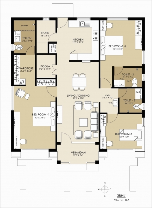 Picture of Glorious 1000 Sq Ft House Plans 2 Bedroom Indian Style Graphics House Plans For 1000 Sq Ft Indian Style Pic