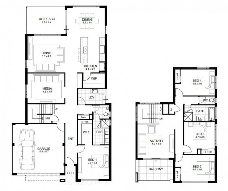 Picture of House Plans Without Garage Australia Low Budget Modern Bedroom Simple Storey On A Half Plot Photo