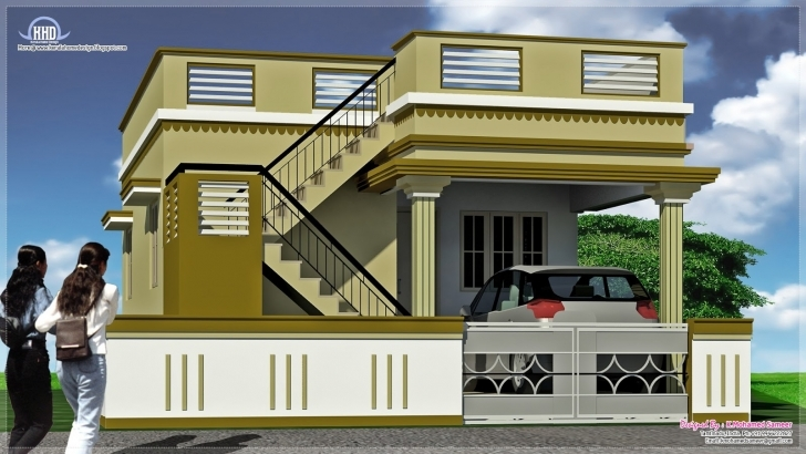Picture of Small Indian House Front Elevation Photos | The Best Wallpaper Of Building Front Design India Photo