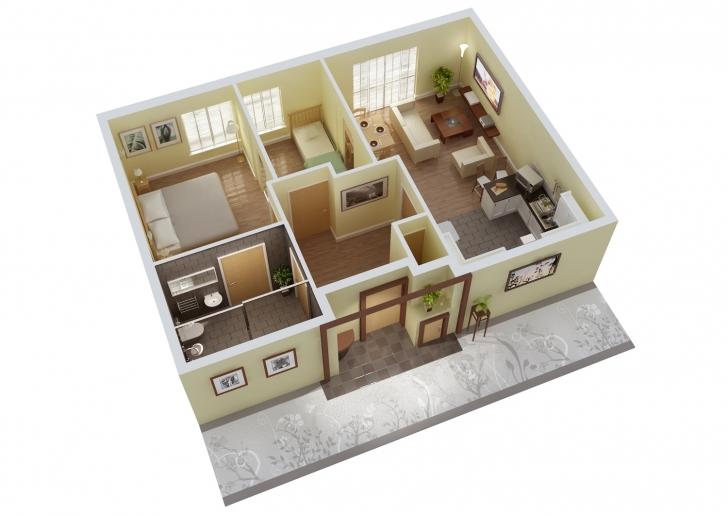 Popular 91+ Home Design 3D 2 Storey - 2 Bedroom House Designs Pictures Sq Ft 2 Bedroom House Plans Indian Style 3d Photo