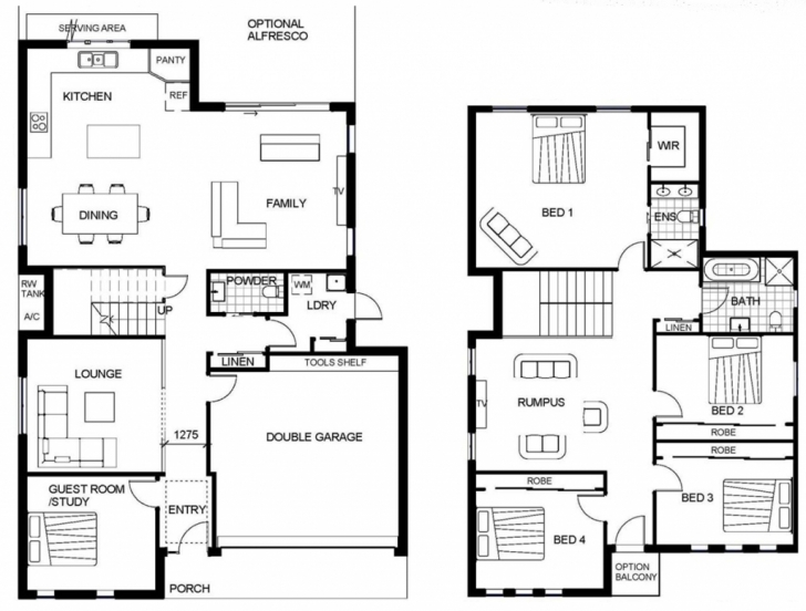 Popular Home Architecture: House Plans Two Story Floor Plan Modern Small Modern Small Double Story House Plans Photo