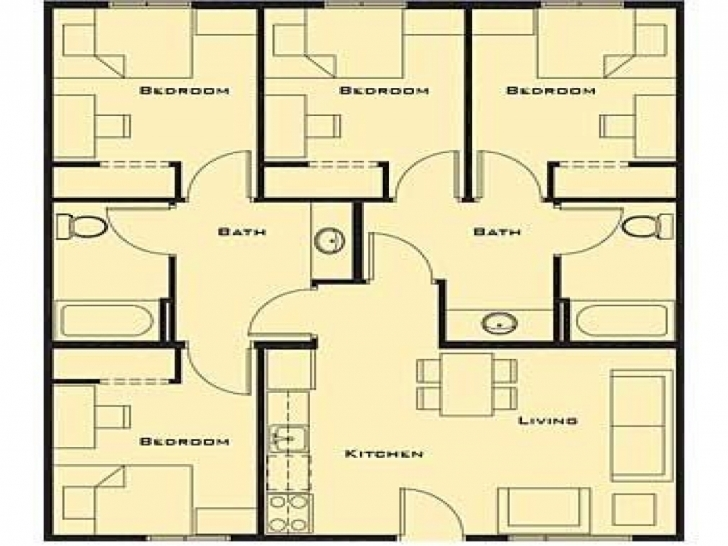 Popular House Plan Simple 4 Bedroom House Plans Interior Design Simple House Simple House Plan With 4 Bedrooms Pic