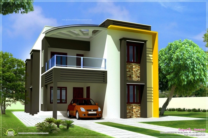 Popular Modern Contemporary Home Elevations Kerala Design And Floor | Floor 20 Feet Front House Elevation Single Floor Picture