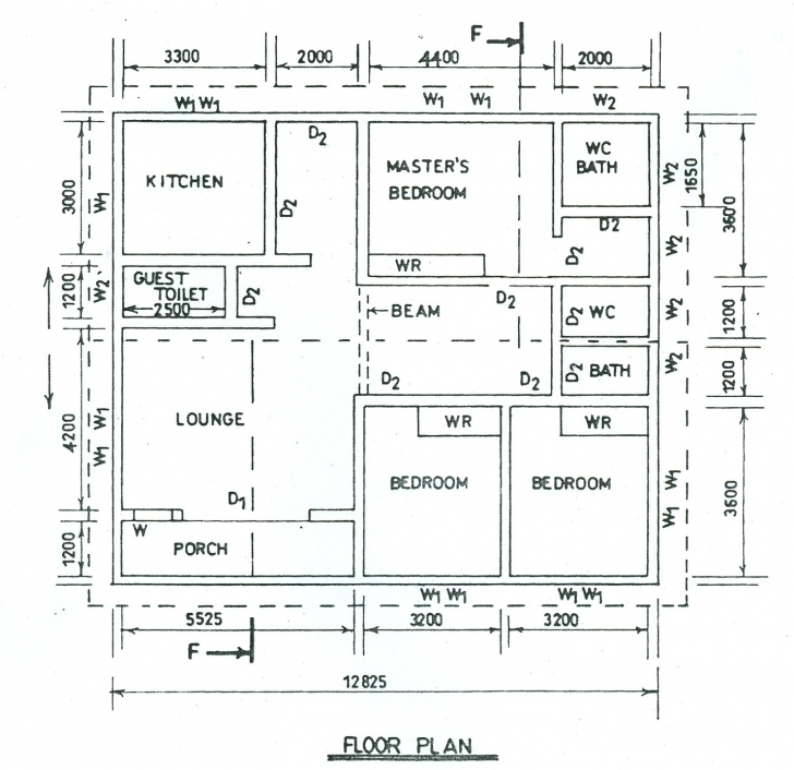 Popular Technical Drawing Paper 3, Nov/dec. 2014 Drawings And Plans Of Four Bedroom Bungalow Pic