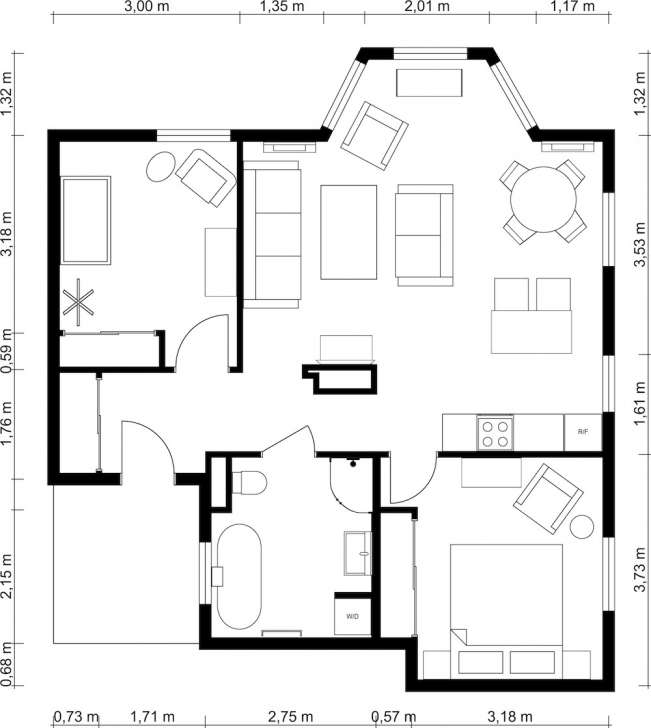 Remarkable 2 Bedroom Floor Plans | Roomsketcher 2 Bedroom House Plans With Photos Photo
