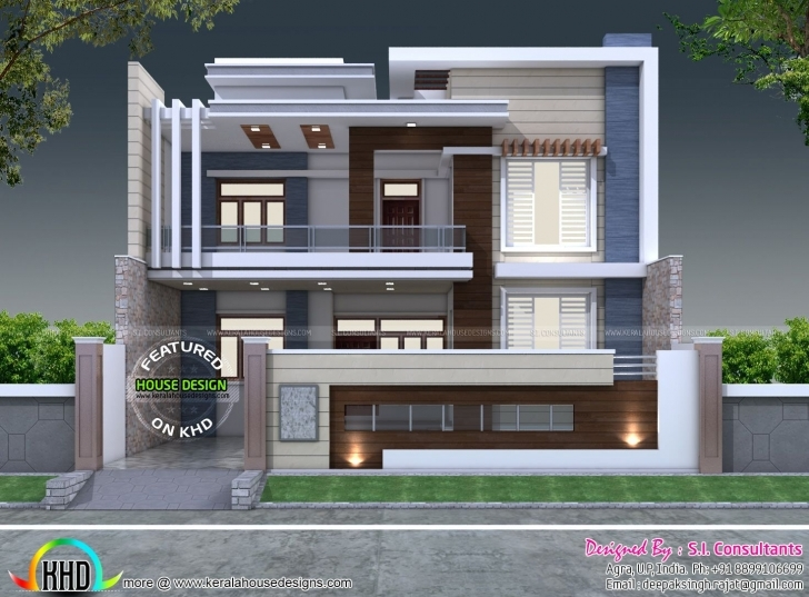 Remarkable 35'x 60' Decorative Style Contemporary Home | Contemporary, House 15 X 40 House Elevation Pic