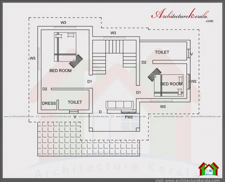 Remarkable 4 Bedroom House Plan In 1400 Square Feet - Architecture Kerala 1500 Sq Ft House Plans In Kerala Photo
