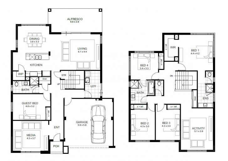 Remarkable 5 Bedroom House Designs Perth | Double Storey | Apg Homes 5 Bedroom Double Storey House Plans Picture