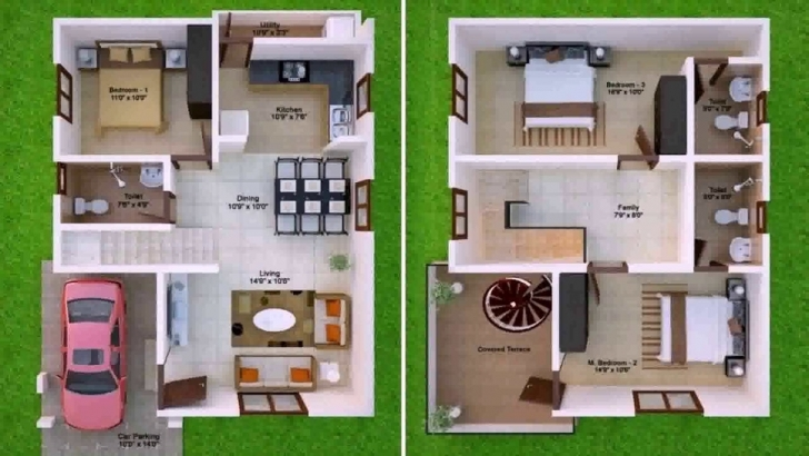 Remarkable 900 Sq Ft House Plans 2 Bedroom Indian Style - Youtube 1100 Sq Ft House Plans With Car Parking Photo