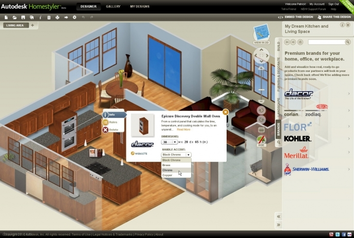 Remarkable Autodesk Homestyler: Easy-To-Use, Free 2D And 3D Online Home Design House 3d Design Free Photo