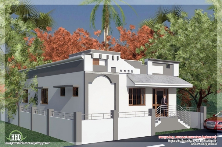 Remarkable Beautiful Tamilnadu Style Single Floor Home Design Photos Front Elevation Designs For Ground Floor House In India Picture
