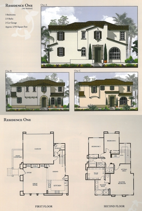 Remarkable Floor Plans & Elevations - The Foothills At Carlsbad Floor Plan With Elevation Pic
