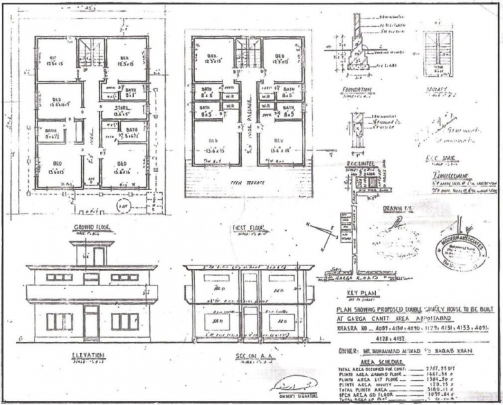 Remarkable G 1 Residential House Plan Luxury Great Awesome G 1 Bungalow Plan Plan Section And Elevation Of Houses Image