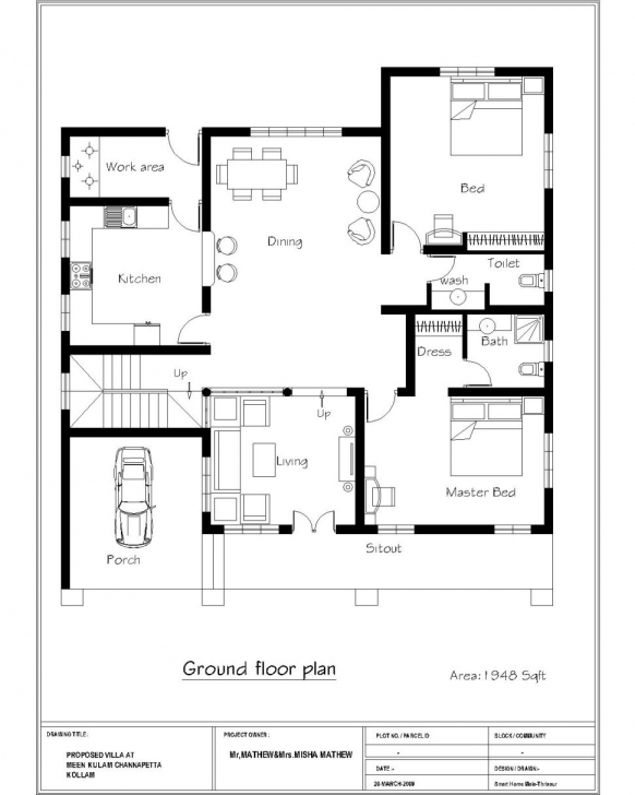 Splendid 3 Bedroom House Plans Indian Style | Musicdna 3 Bedroom House Plan In India Photo