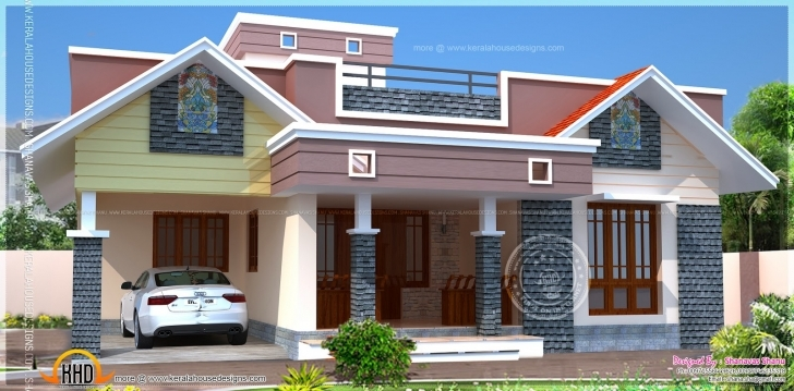 Splendid Floor Plan Modern Single Home Indian House Plans - Building Plans Indian House Design Front View Single Floor Image