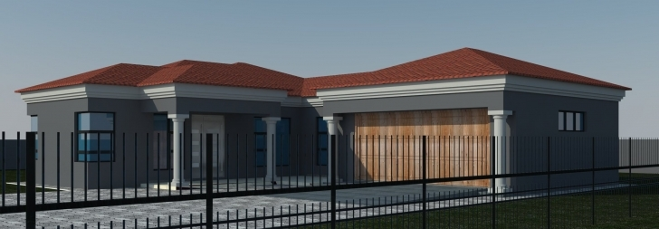Splendid Home Architecture: Bedroom House Plans Tuscan Single Storey House Modern South African House Plans Image