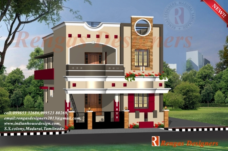 Splendid House Designs Double Floor Collection With Outstanding Houses Front Indian House Elevation Photo Gallery Image