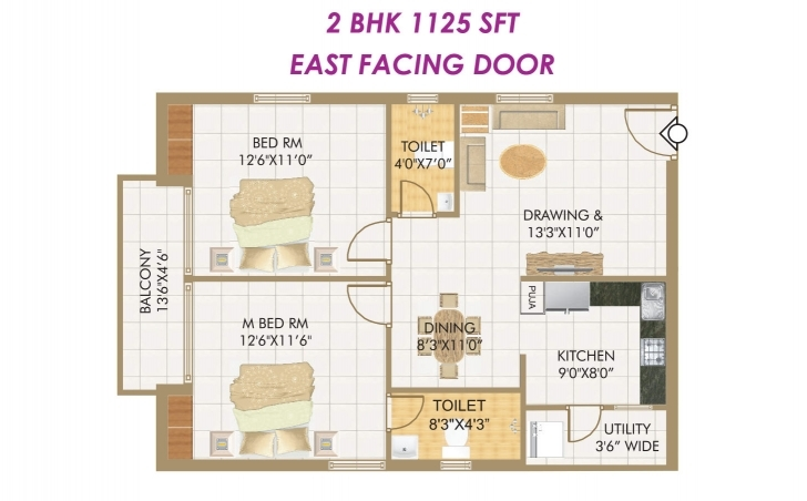 Splendid House Plan Download 2 Bhk House Plans | Waterfaucets East Facing 2 Bedroom House Plans Indian Style East Facing Photo