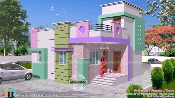 Splendid South Indian House Front Elevation Designs - Youtube Indian House Single Floor Front Elevation Photos Photo