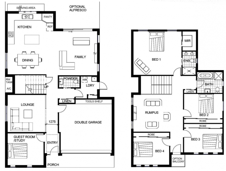 Stunning 2 Storey House Floor Plan Autocad Lotusbleudesignorg | House/room G+2 Residential Building Plan In Autocad Picture
