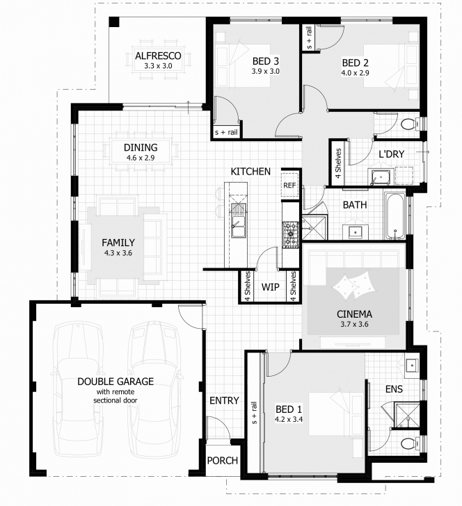 Stunning 3 Bedroom House Plans With Double Garage In South Africa Beautiful South African 3 Bedroom House Plans Photo