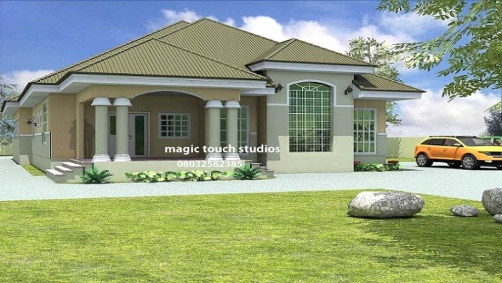 Stunning 4 Bedroom House Plans In Uganda Awesome Bedroom Bungalow House Plan 4 Bedroom House Designs Ghana Pic