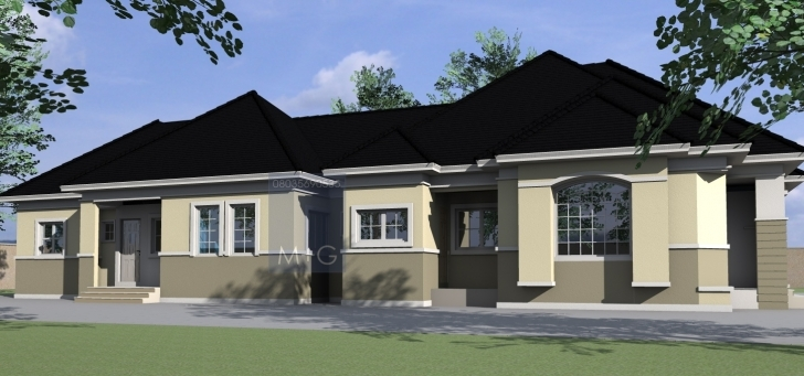 Stunning Contemporary Nigerian Residential Architecture: 4 Bedroom Bungalow 4 Bedroom Flat House Plans In Nigeria Pic