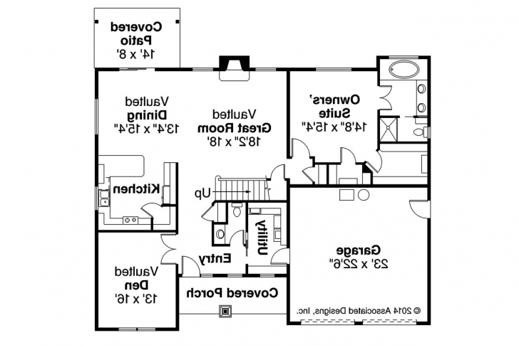 Stunning Country House Plans - Acadia 30-961 - Associated Designs Three Bedroom Flat Plan And Elevation Image