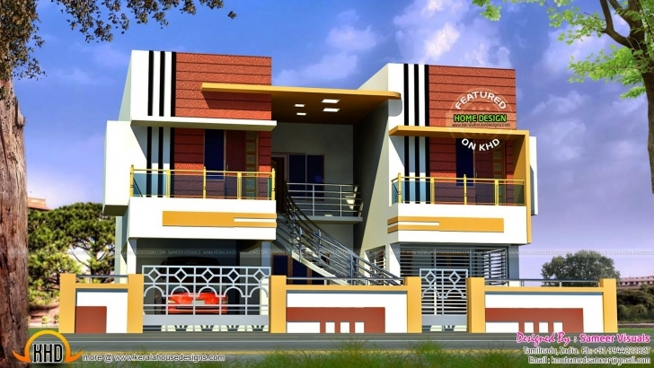 Stunning Front Elevation North Indian House | The Base Wallpaper Front Elevation Of Indian House 30x50 Site Single Floor Picture
