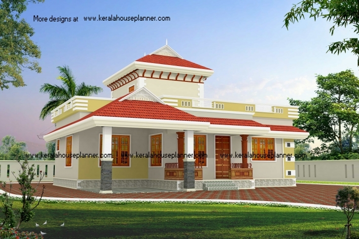 Stunning Low Budget Beautiful Kerala House Designs At 1195 Sq.ft Kerala House Plans Low Budget Pic