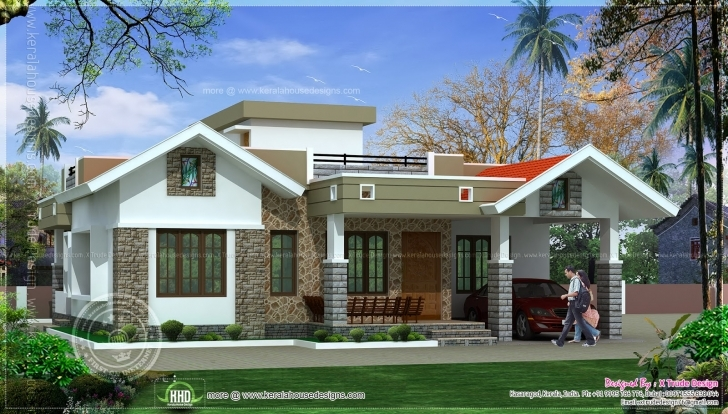 Stunning One Floor Kerala Style Home Design - Building Plans Online | #8445 Single Floor House Elevation Kerala Style Photo