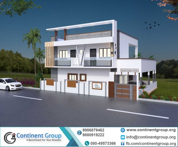 Stunning Project Gallery-Building Elevation-3D Floor Plan-Interior Design Duplex House Front Elevation Designs In Bangalore Image