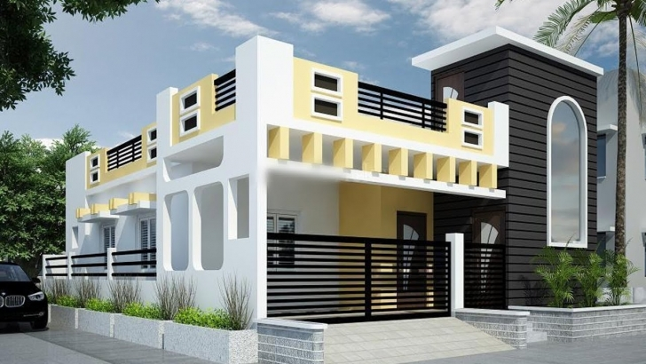 Top 25 Awesome Single Floor House Elevations | Housing Loans | Home Single Floor House Design Photo