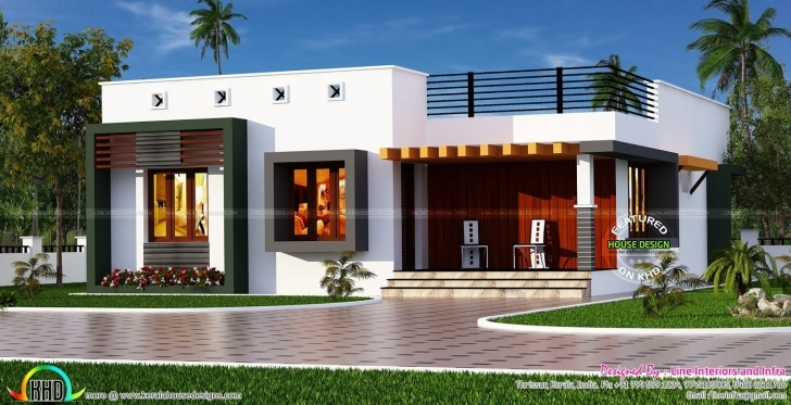 Top Box Type Single Floor House | Box, House And Smallest House Indian House Design Front View Single Floor Image
