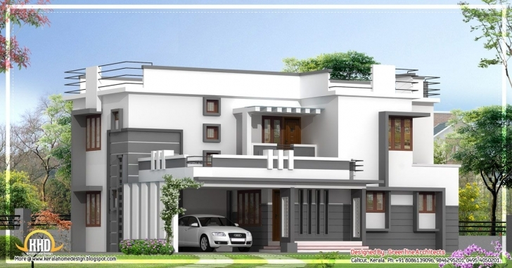 Top Contemporary 2 Story Kerala Home Design - 2400 Sq. Ft. | Dream Home Small Contemporary House Plans In Kerala Photo