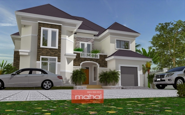 Top Contemporary Nigerian Residential Architecture: Ovie House 5 Bedroom Duplex Designs In Nigeria Picture